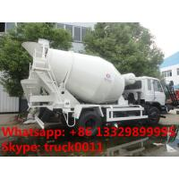 Quality Dongfeng 4*2 LHD Euro 3 Yuichai engine 6cbm cement mixer truck for sale, factory sale 4*2 mixer drum mounted on truck for sale