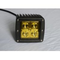 "Yellow Lens Pods Vehicle LED Work Lights 2 x 2 3"" 16W For Marine / Jeep / Offroad Manufactures"
