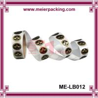 Promotion packing adhesive labels,vinyl roll custom printing adhesive with gold hot stamping Manufactures