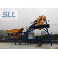 High Productivity Portable Concrete Mixer Batching Plants Mobile Low Noise Manufactures