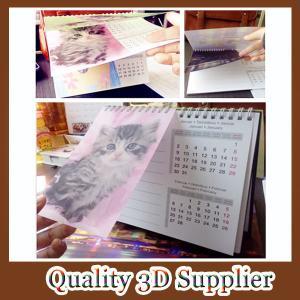 2015 customized spiral binding 3d desk calendar with memo Manufactures