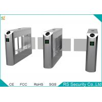 Government Railway Supermarket Swing Gate Bevel Swiping Card Turnstiles System Manufactures