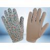 Flower Printed Cotton Gardening Gloves Slip Proof Three Stitches Lines Manufactures