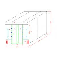 Buy cheap Auto Sliding doors Air Shower for goods with width 635mm cabinet, Full Stainless from wholesalers
