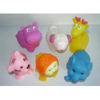 Floating Squeezing Animal Rubber Bath Toys Safe Vinyl With Customized Logo Manufactures