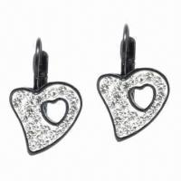 Earrings, Made of Titanium and Zircon Materials Manufactures