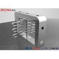 Security Waist Height Turnstiles Entrance Stepping Driver Motor RS485 Communication Interface Manufactures