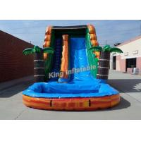 Buy cheap Bright Inflatable Jumping Slide , Tropical 18 Feet Water Slide With PVC Tarpaulin from wholesalers