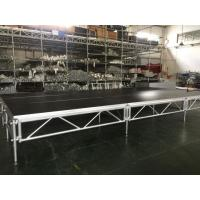 1 - 1.4m Indoor / Outdoor Assemble Aluminum Stage Platform 6082-T6 Material For Events Manufactures