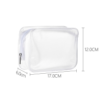 Promotional Clear Frosted Plastic Heat Seal Zipper Makeup Bag Manufactures
