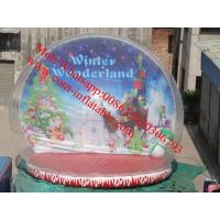 Quality xmas inflatable snow globe for sale