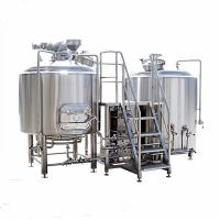 2000L Stainless Steel 2 Vessel Brewhouse Steam Heating Brewing Equipment Eco Friendly Manufactures