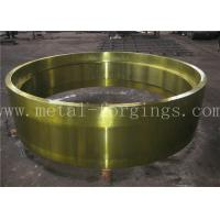 C50 AISI1050 Carbon Steel Forged Ring Hot Rolled Cylinder Forged Disc / Pipe Manufactures