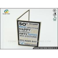 Kraft Paper Personalised Christmas Cards Pantone Color Environmental Protection Manufactures