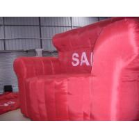 Quality Red inflatable sofa with repair kit and air pump for living room , bedroom , for sale