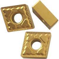 Quality CNMG Yellow And Black Coated CNC Turning Inserts For Machnical Parts Semi Finish Process for sale
