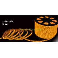 LED Rope light yellow color 100m/roll LED 2 wires 13mm diameter 220V Manufactures