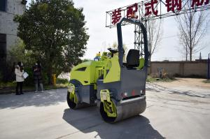 China Ride On Small Fully Hydraulic  Soil Asphalt Compactor Vibratory Roller For Sale on sale