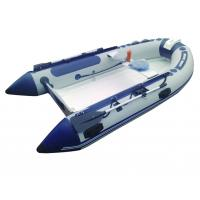 3.0m Rigid Fishing Inflatable RIB Boats Two Layers Fiberglass Hull Light Grey Manufactures