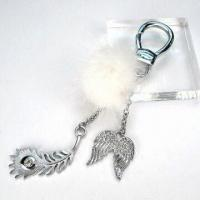 Chrome-plated Keychain, OEM Orders are Welcome, Made of Zinc Alloy Manufactures