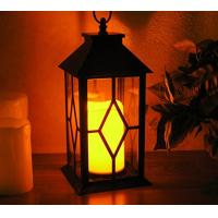 Quality Vintage Indoor Black Lantern Flameless LED Candles With Plastic Wavy And Drip for sale