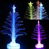 Colorful LED Fiber Optic Nightlight Christmas Tree Light Manufactures