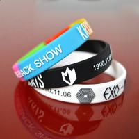 Embossed with color silicone bracelets wristband Manufactures