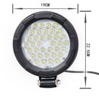 Buy cheap 4WD Jeep Off Road Car LED Headlights Round Shape IP 67 Waterproof Rate from wholesalers