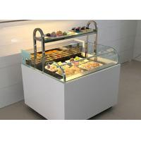 Quality Customized Open Type Sandwich Display Cabinet With LED Light Refrigeration Food for sale