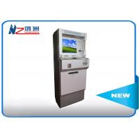 Metal Keyboard Self Payment Kiosk , Touch Screen Computer Kiosk With Card Dispenser Manufactures
