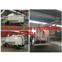 factory sale dongfeng RHD 120hp 5tons-7tons hydraulic discharging feed truck, hydraulic farm-oriented animal feed truck Manufactures