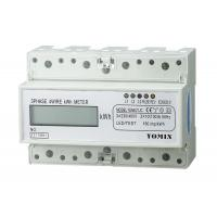 7 Module 4 Wire Three Phase Power Meter CT Connection Din Rail KWH Meter Manufactures