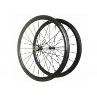11 Speed Carbon Wheelset 700C*25MM , Tubular Road Bike Wheels With Alloy Black Nipple Manufactures