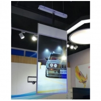 China Transparent LCD Display 43 Inch Double Sided Hanging Ceiling Mounting Video Wall 4G WiFi USB Media Player on sale