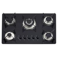 Brazil Classic Glass Gas Hob 5 Burner Gas Cooker Pulse Igniton With 1.5V Manufactures