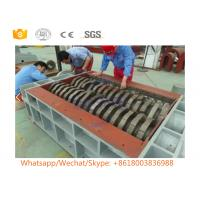 Double Roll Scrap Metal Shredder Machine With PLC Control System Wear Resistant Manufactures