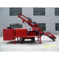 China Three Head Clamping Crawler Anchor Drilling Rig Drill Rig Machine Simple Operation on sale