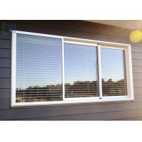 Double Glazed Glass Aluminium Three Track Sliding Window With Mosquito Net / Blinds Manufactures