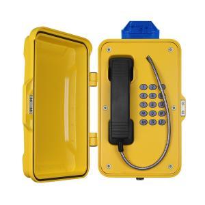 IP67 Industrial Weatherproof Telephone With Beacon , PoE Powered Tunnel Phone