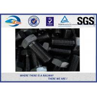 Grade 10.9 Black Surface 45# steel Hexagon Head Bolt  For Railroad Manufactures