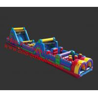 Commercial Baby / Kid Inflatable Obstacle Course Equipment For Amusement Park Manufactures