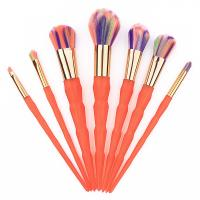7 Pcs Orange Thread Face Makeup Brush Kit Nylon Hair Material Manufactures