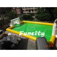 Sealed Inflatable Football Games Inflatable Football Pitch Logo Printed Manufactures