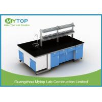 C Frame Medical Lab Furniture / Laboratory Working Table Strong Chemical Resistance Manufactures
