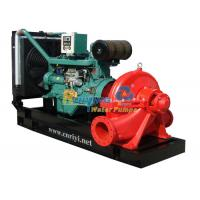 Trailer type diesel powered water pumps 100m3/h weatherproof with CE , ISO Manufactures