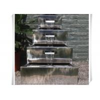 Polished Craft Stainless Steel Water Feature / Metal Water Features Fountains Manufactures