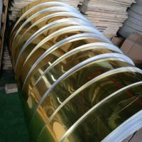 Gold Mill Finished Mirror Polished Aluminum Sheet For Electric Appliance Panel Manufactures