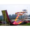 Swimming Pool Water Slide / Aqua Theme Park Equipment Boomerang Water Slide Manufactures