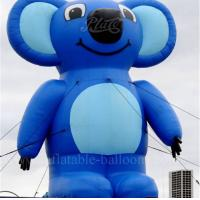 China Cartoon Blue Inflatable Sloth Roof Decoration Air Characters Inflatables on sale