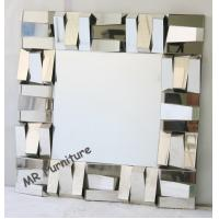 Quality Square Stella 3D Wall Mirror For Hotel / Home Beveled Edge Mirror for sale